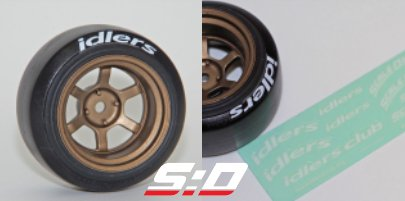 Scale Dynamics D62 Drift Tires Idlers Decals (10053)
