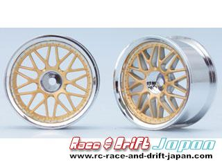 Yokomo 10 Mesh Wheel Gold (4mm Offset)