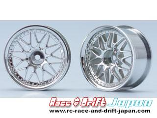Yokomo 10 Mesh Wheel Chrome (4mm Offset)