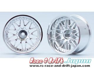 Yokomo 10 Mesh Wheel Chrome (12mm Offset)