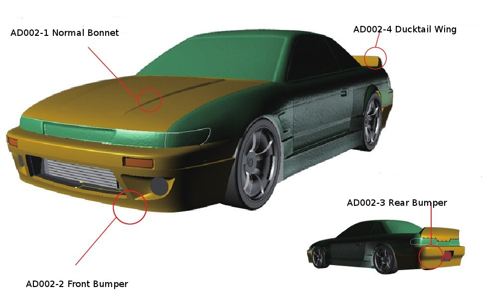 Addiction S13 Ducktail Wing (AD002-4)
