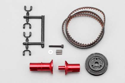 Yokomo DIB Full Counter Solid Axle Set 1.5 Red (IB-FCD15R)