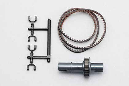 Yokomo DIB Full Counter Solid Axle Set 1.8 Gun Metal (IB-FCD18G)