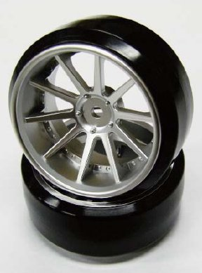 Top Line NF Wheel 3mm 3mm Hub Mat Silver (NFW-030MS)
