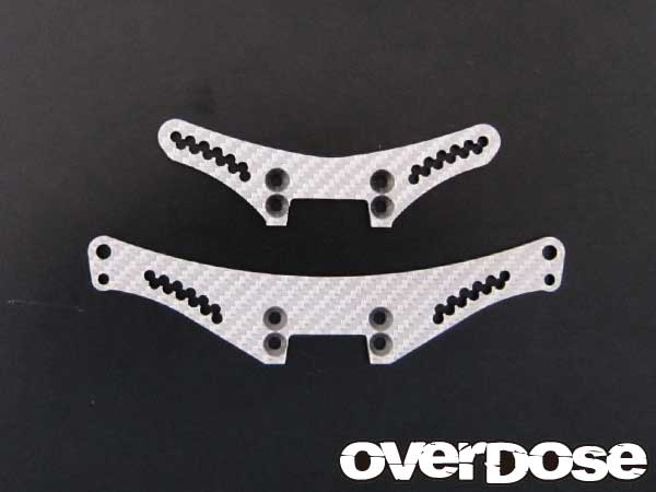 Overdose Silver Carbon Shock Tower Set (OD1069)