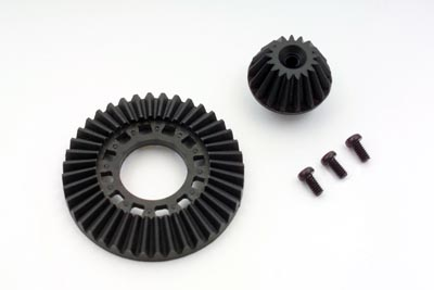Yokomo Ring Gear/Drive Gear Set One Way/Solid Graphite (SD-643G)