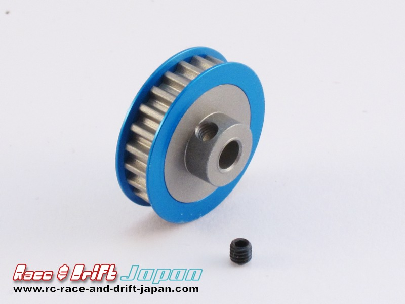 Square Aluminium Center Pulley 23T Blue (SGE-323)