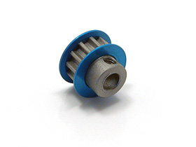 Square Aluminium Center Pulley 12T Blue (SGE-312)