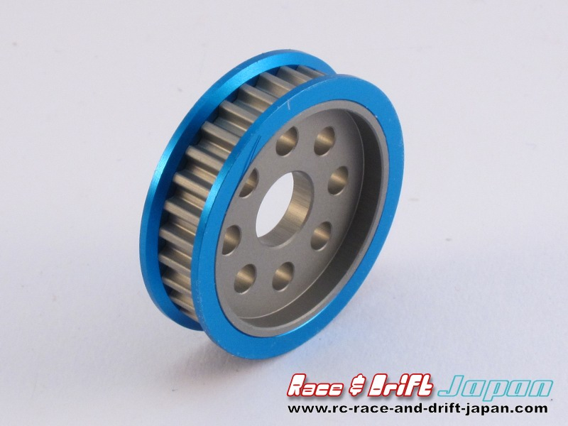 Square Aluminium Rear Pulley 30T Blue (STA-330)