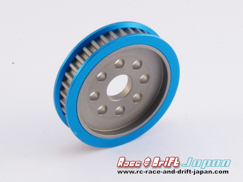 Square Aluminium Pulley 36T Blue (STA-336)
