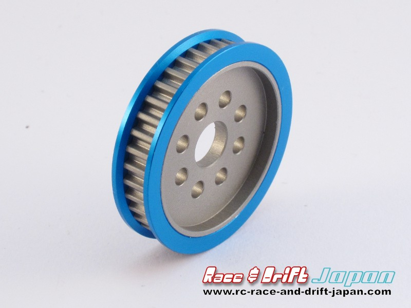 Square Aluminium Pulley 37T Blue (STA-337)