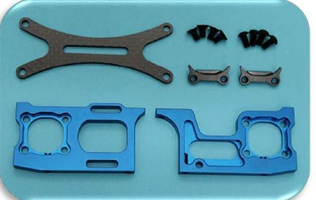 Team Bomber Motor Mount V2 Blue (TB20085)