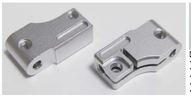 Top Line A-Arm Clamp Silver (TP-27SI)