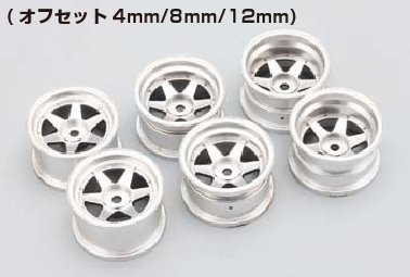 Yokomo 6 Spoke Shoukei Wheel (4mm Offset)
