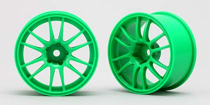 Yokomo Enkei Racing GTC 01 Green (4mm Offset)