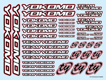 Yokomo Logo Decals 2015 Red (ZC-D15R)