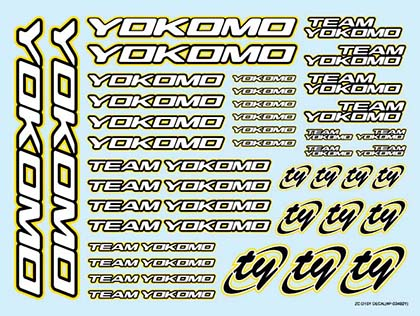 Yokomo Logo Decals 2015 Yellow (ZC-D15Y)