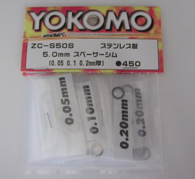 Yokomo Shim Set 5.0mm Stainless (ZC-S50S)